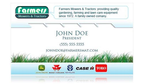 Farmers business card