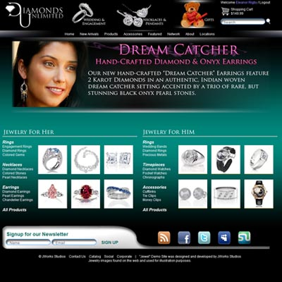 Diamonds Unlimited website design