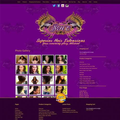 Superior Hair website design