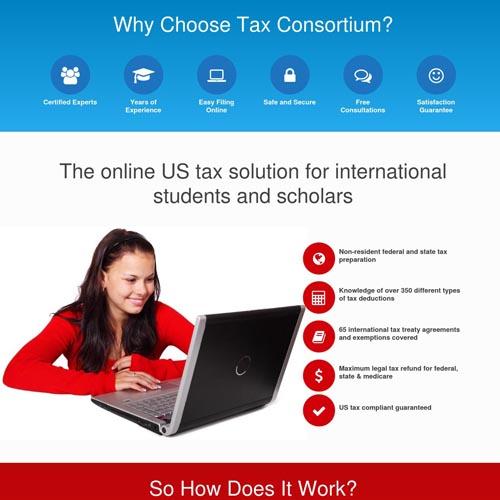 Tax Consortium website design