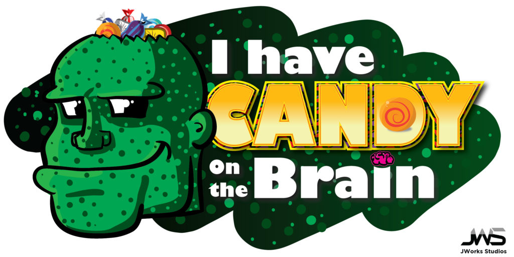 Candy on the Brain Halloween Graphic