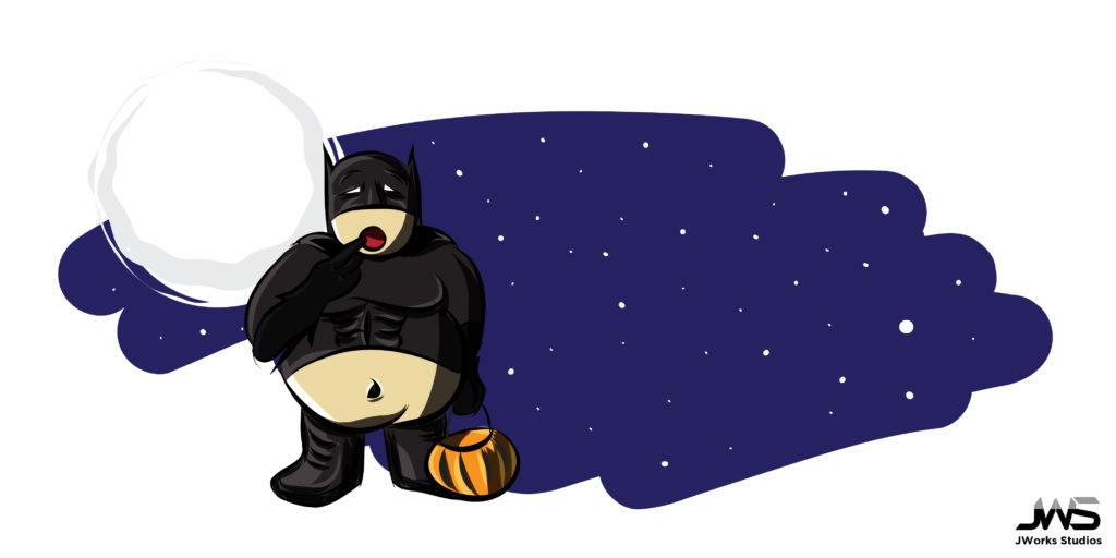 Blank Fatman Halloween Graphic
