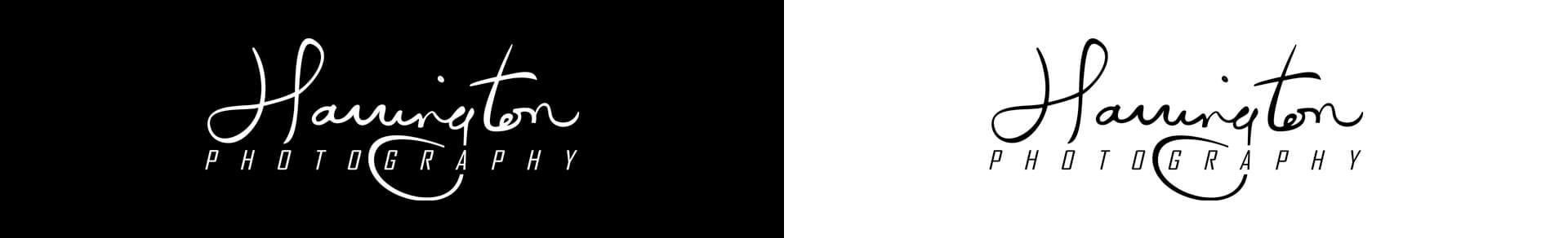 harrington photography black white logo comparison