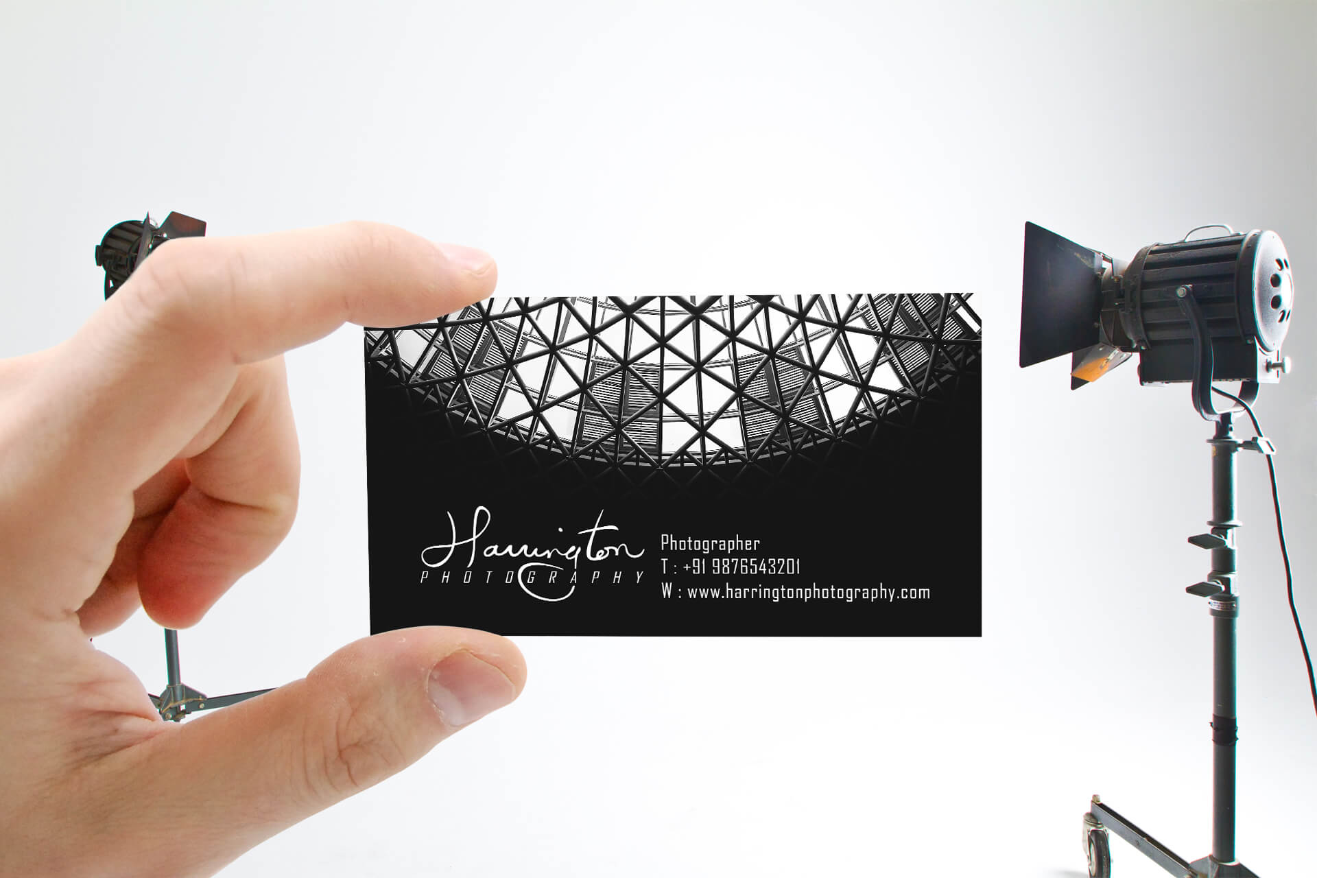 harrington photography business card mock up