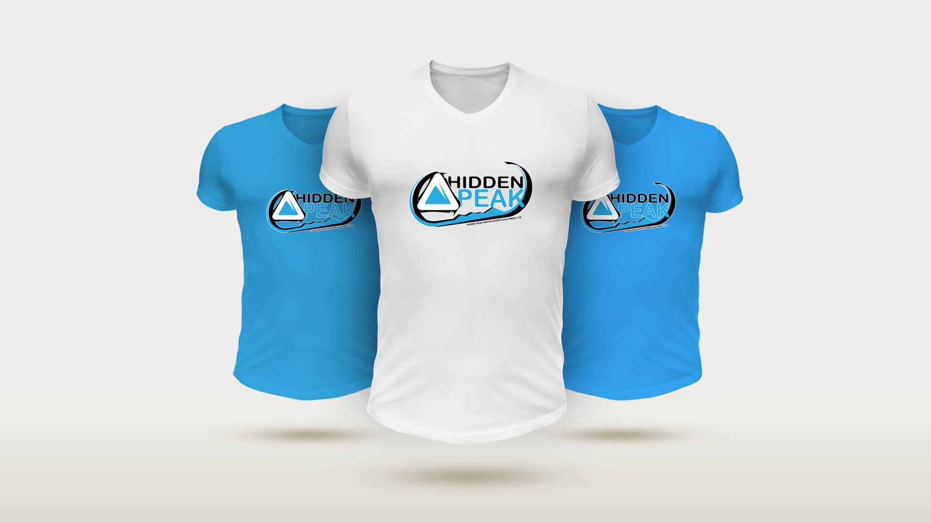 hidden peak Free Designer T Shirt Mockup