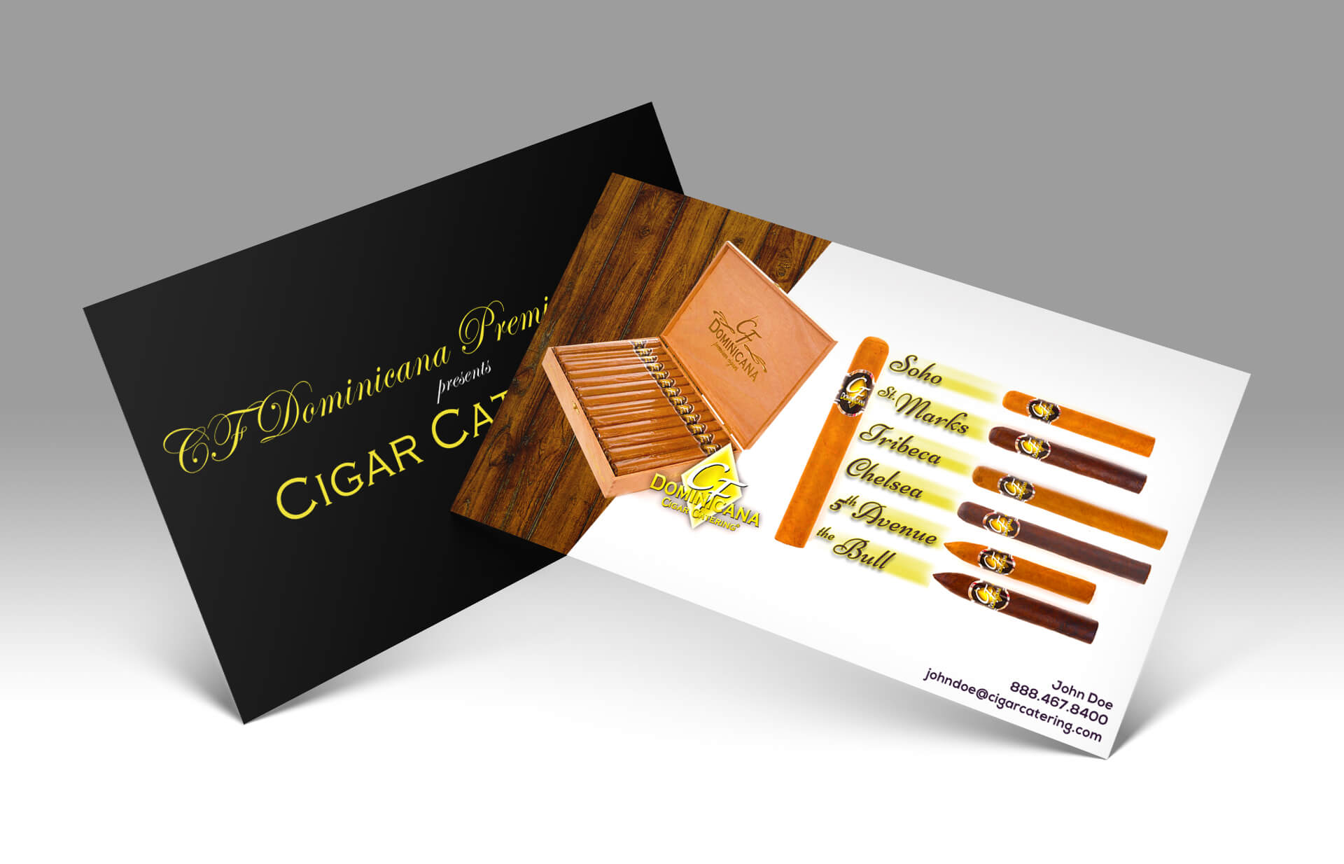 cf dominicana premium cigars portfolio business cards