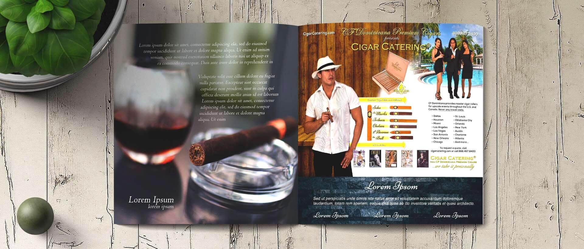 Cigar ad mockup