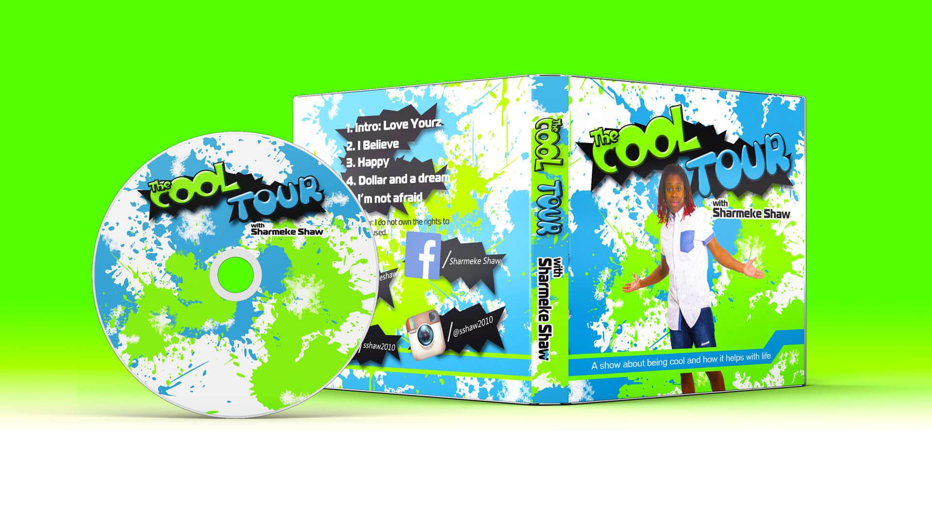 the cool tour porrtfolio cd cover green