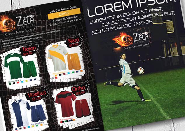 Zela Soccer graphic design