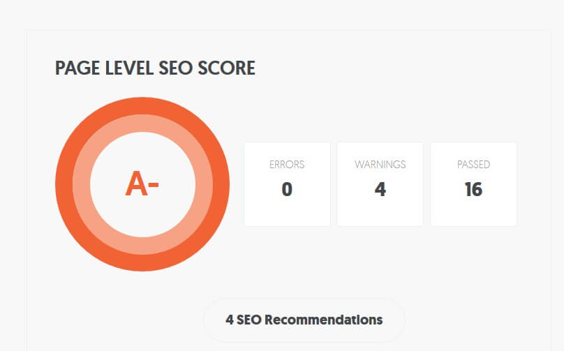 After SEO - great scores