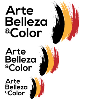 Arte Belleza and Color logo sizes