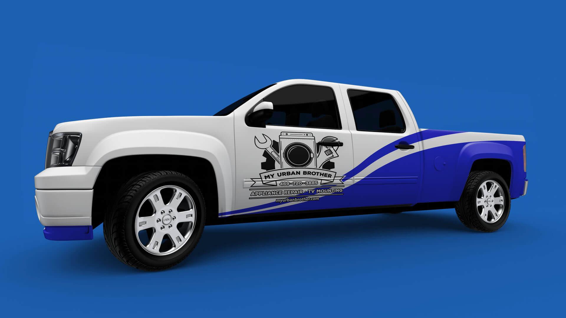 Urban Brothers vehicle wrap