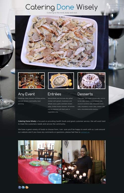 Catering website preview