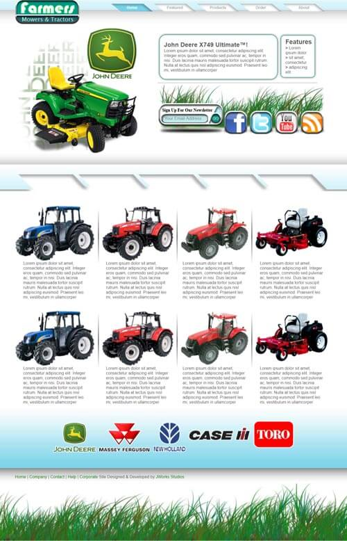 Farmers website preview