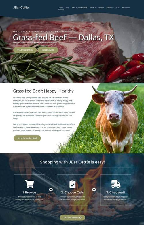 JBar Cattle website preview