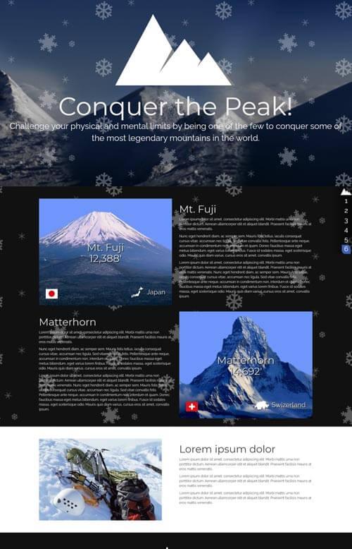 Mountain website preview
