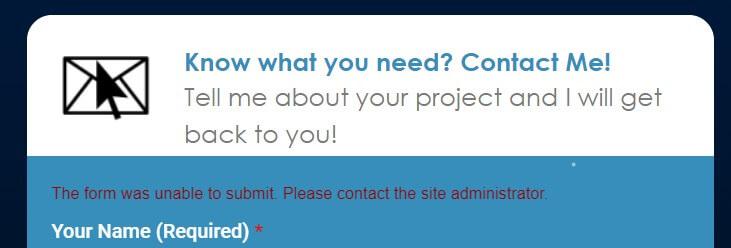 Contact form error