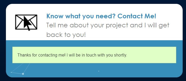 Contact form submitted successfully